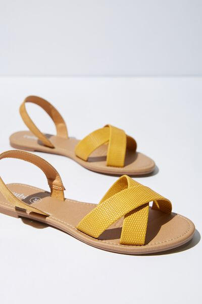 Everyday Banting Crossover Sandal, MUSTARD TEXTURE