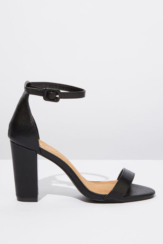 San Luis Heel, BLACK SMOOTH PU