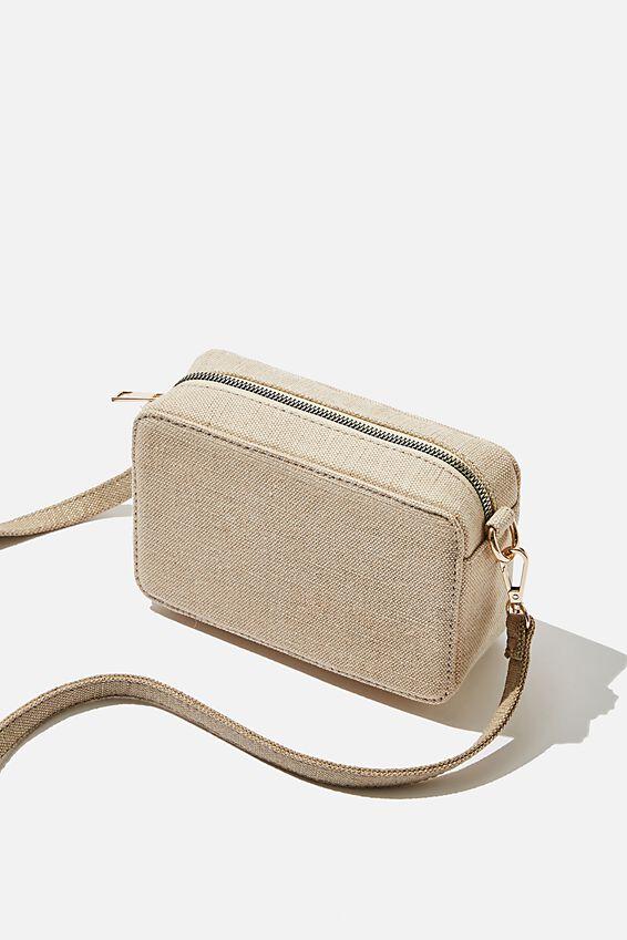 Stevie Boxy Cross Body Bag, METALLIC GOLD