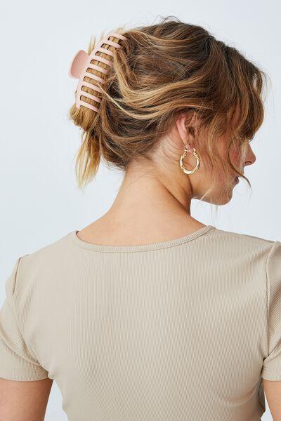 Rachel Hair Claw, MATTE NUDE