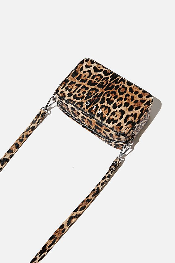 Personalised Stevie Boxy Cross Body Bag, LEOPARD