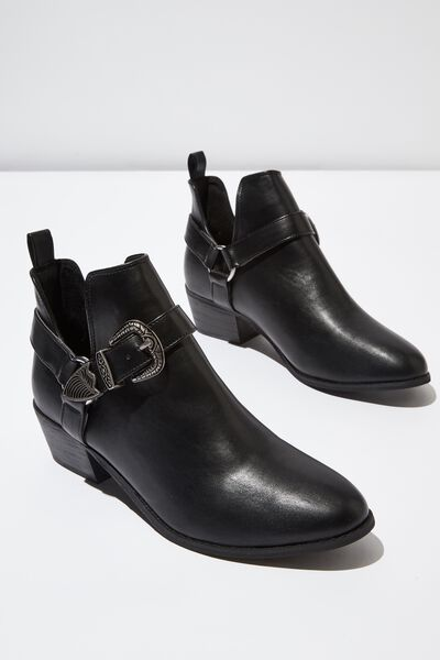 Zion Western Harness Boot, BLACK SMOOTH