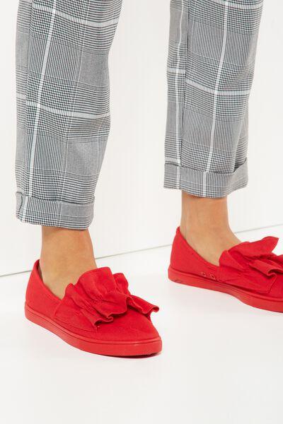 Hazel Frill Slip On, RED MONO