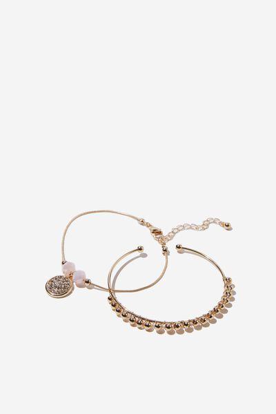 Wichita Bead Bead Bracelet, GOLD