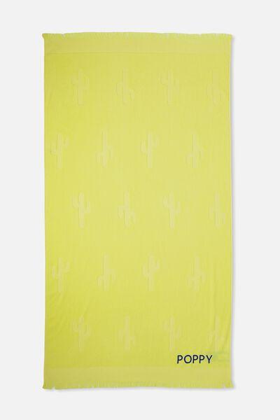 Personalised Love A Jacquard Towel, LEMON CACTUS