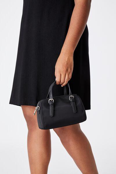 Mini Bowling Bag, BLACK
