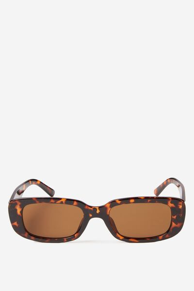 Abby Sunglass, TORT/BROWN MONO