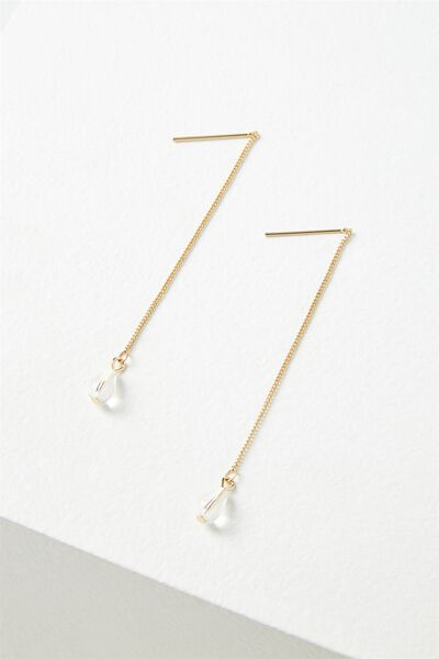 Santa Cruz Chain Earring, CLEAR