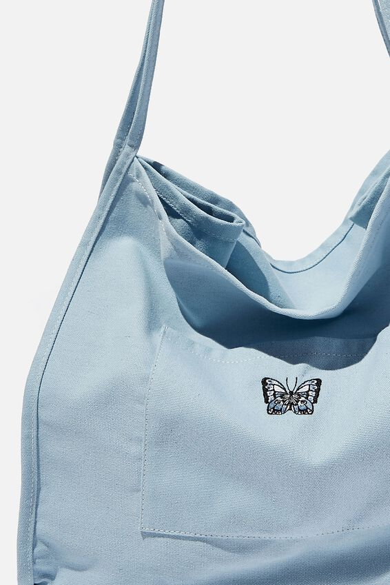 Amelia Tote, PALE BLUE/BUTTERFLY