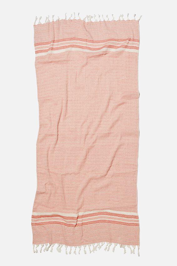 Coogee Lightweight Towel, DESERT SAND PINSTRIPE