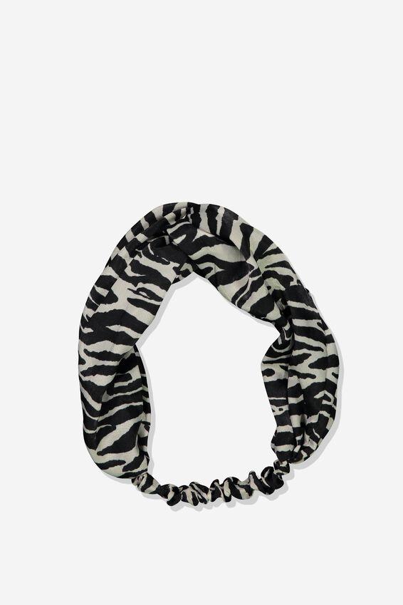 Manhattan Headband, NATURAL/BLACK ZEBRA