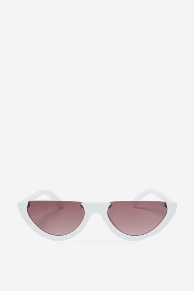 Shortage Sunglasses, WHITE/GRAD