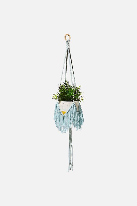Sml Fringed Hanger, BLUE