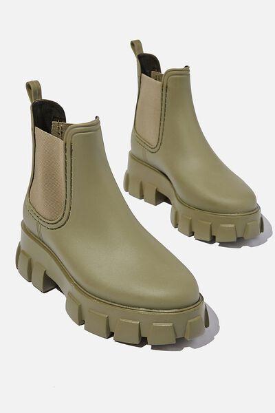Cameron Gusset Rain Boot, KHAKI