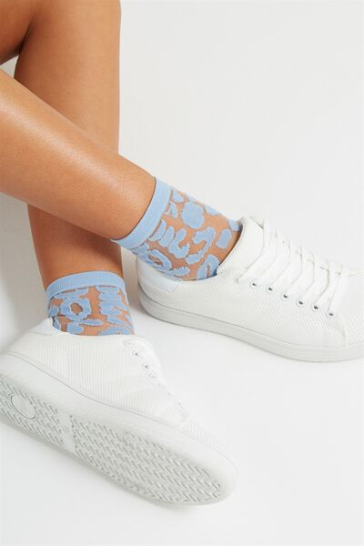 Sherry Sheer Sock, CORNFLOWER BLUE