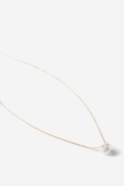 Minerva Necklace, PEARL/GOLD
