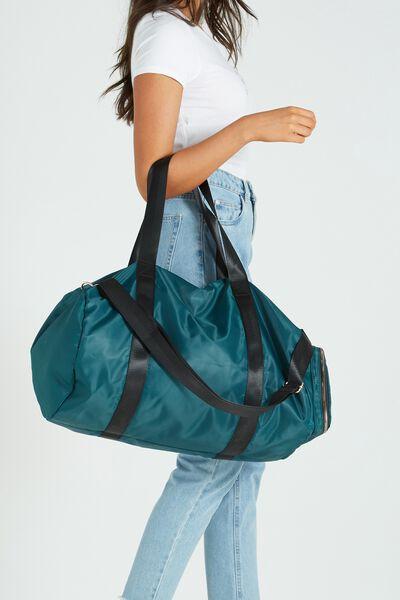Istanbul Foldable Duffle Bag, JUNGLE GREEN