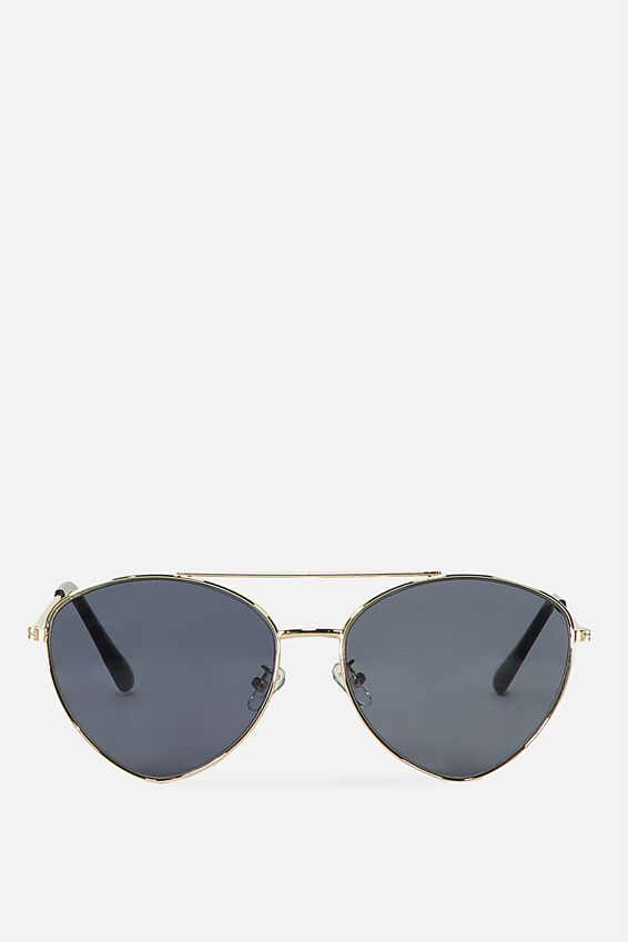 Olivia Fashion Aviator Sunglasses, S.GOLD