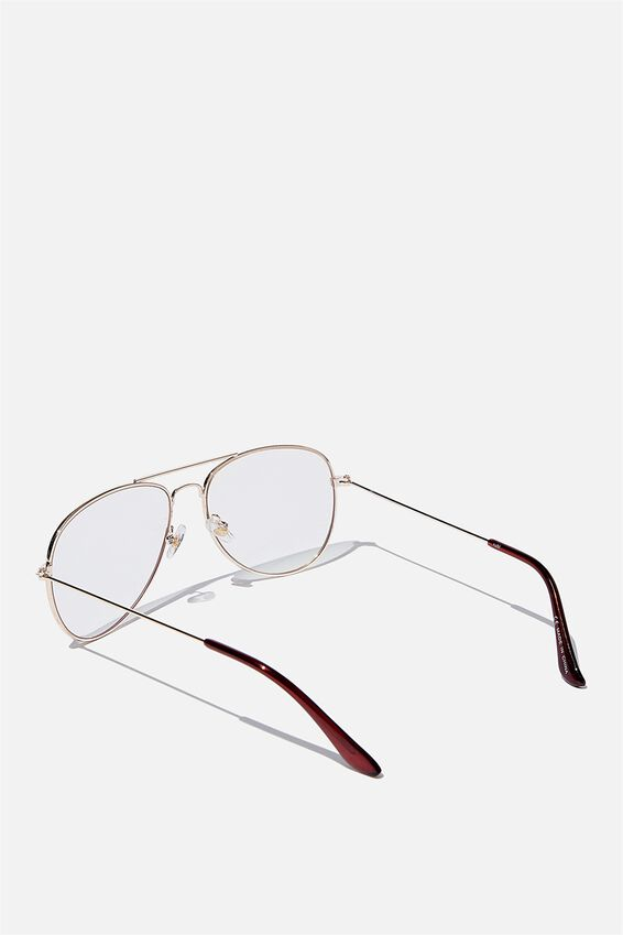 Arabella Blue Light Blocking Glasses, GOLD