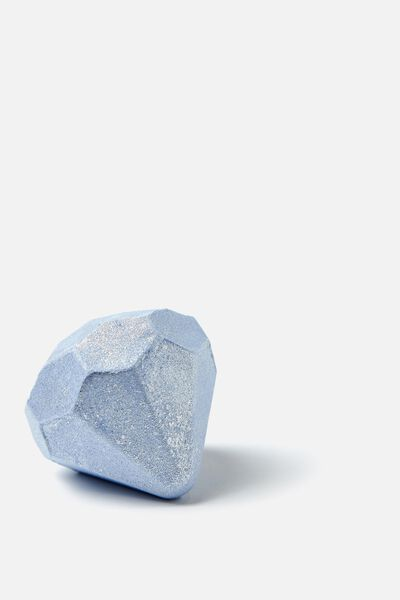 Bath Fizzer, LIGHT BLUE DIAMOND