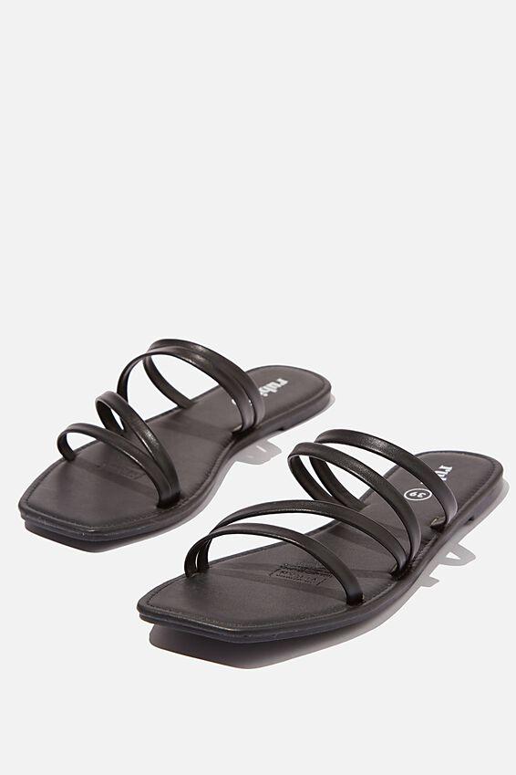 Natalie Strappy Sandal, BLACK PU