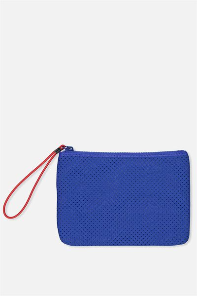 Active Perforated Clutch, ELECTRIC BLUE