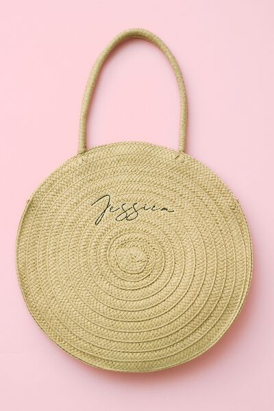 Personalised Round And Round Large Tote, TAN