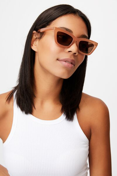 Lyndsey Sunglasses, CHESTNUT