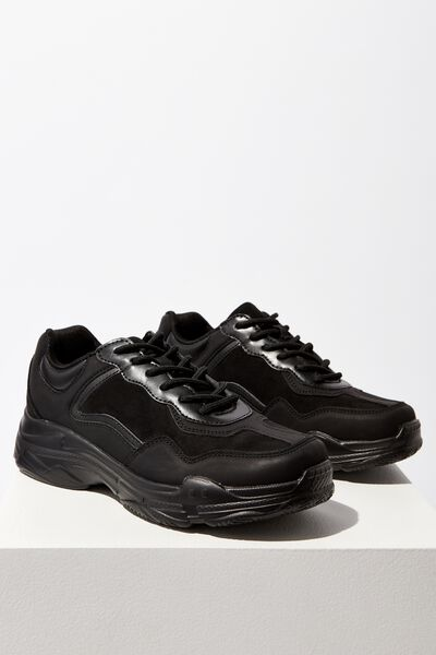 Erika Chunky Trainer, BLACK