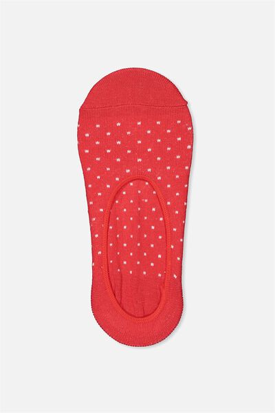 Invisible Sock, CHERRY RED SPOT