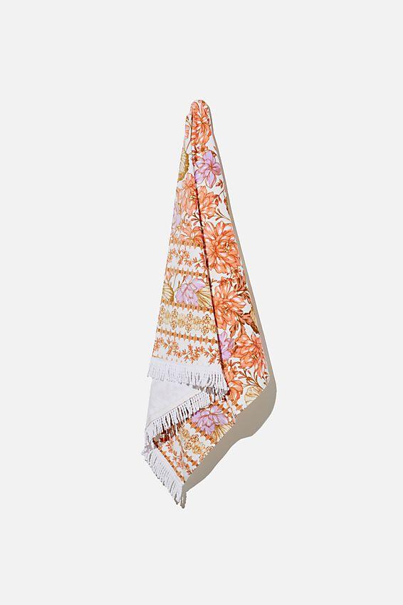 Bondi Rectangle Towel, MELON SHELL FLORAL