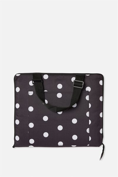 Summer Days Picnic Blanket, BLACK POLKA DOT