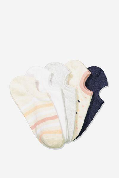 5Pk Sports Low Cut Sock, BLUSH SPOT