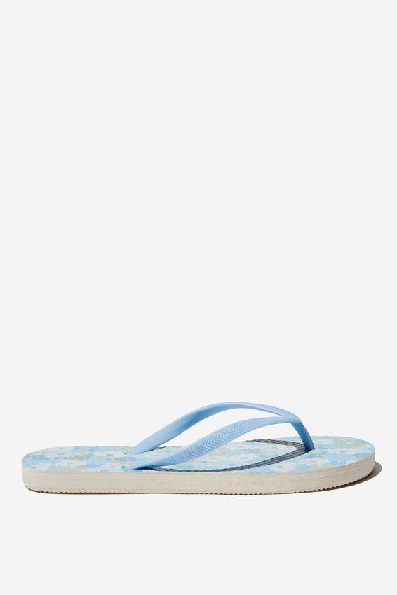 The Rubi Flip Flop, BLUE RETRO DITSY