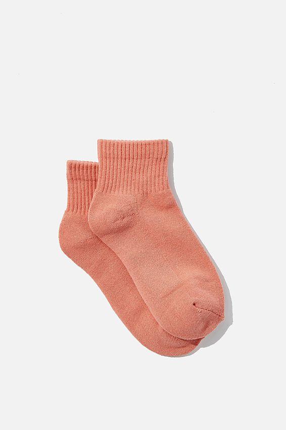 Club House Quarter Crew Sock, HONEY PINK