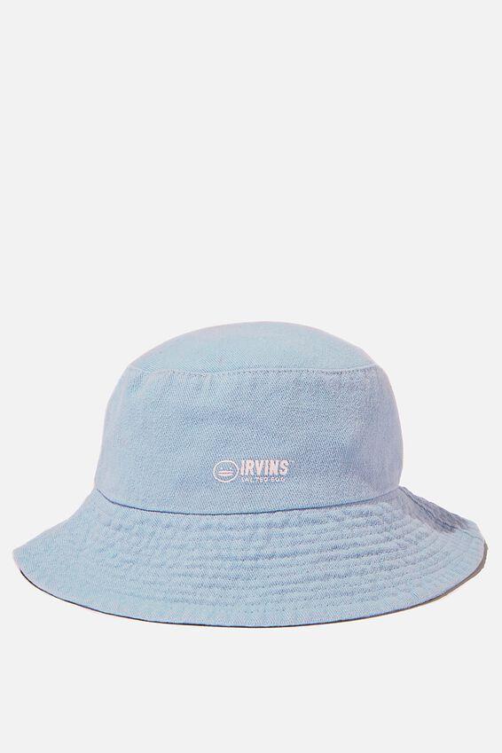Bianca Bucket Hat, LCN IRV IRVINS LOGO/AUTHENTIC BLUE