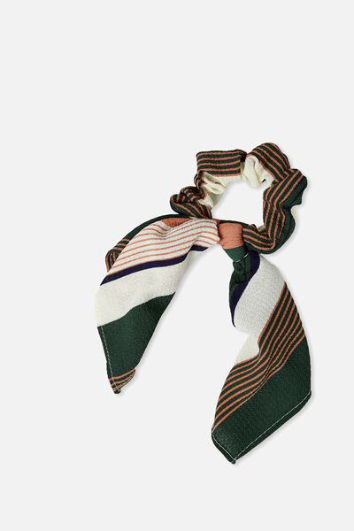 Maddison Scarf Scrunchie, BLUSH VARIGATED STRIPE