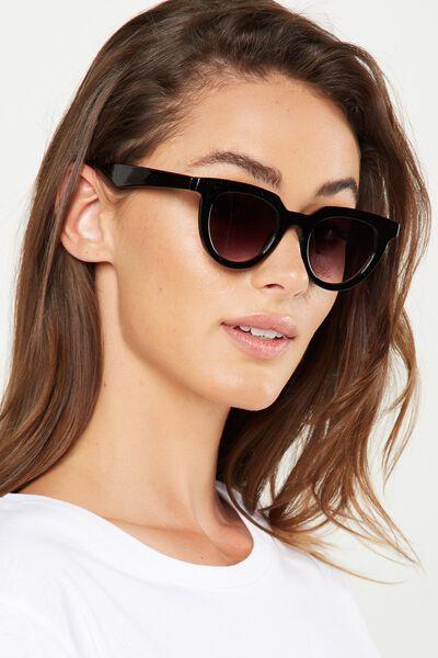 Portia Preppy Sunglasses, BLACK