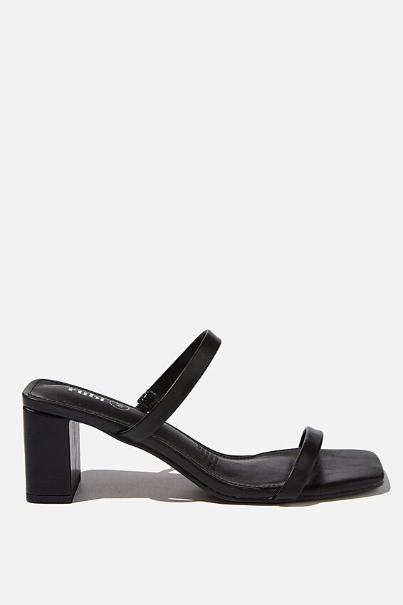 Merita Mule, BLACK SMOOTH PU