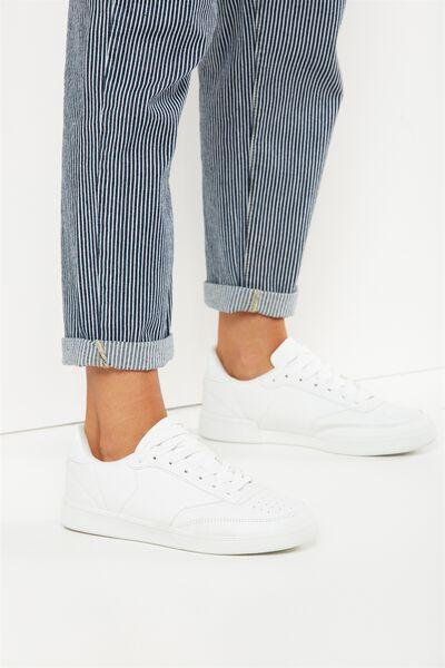 Copenhagen Sneaker, WHITE PU