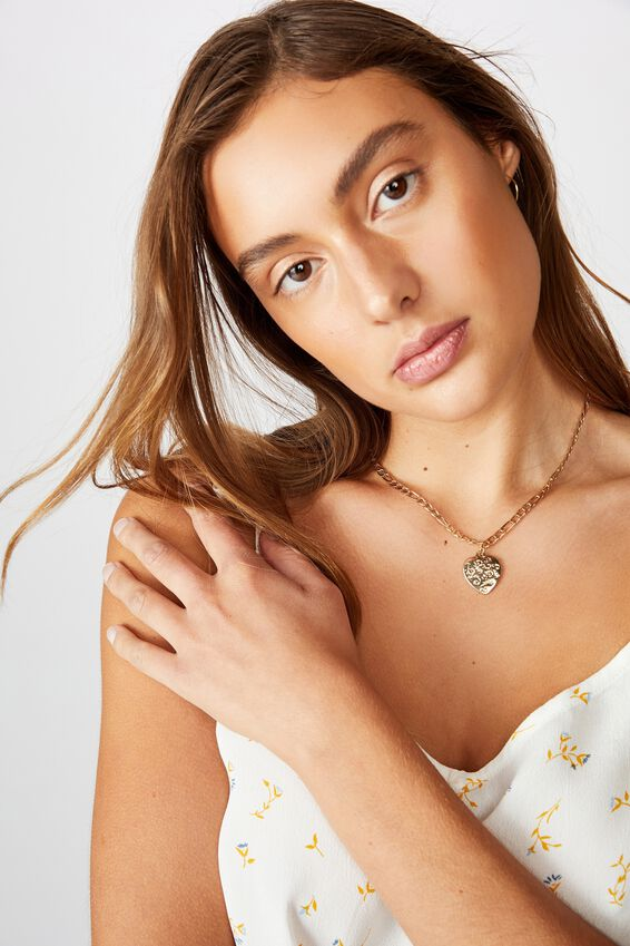 Luxe Layers Sweetheart Necklace, GOLD