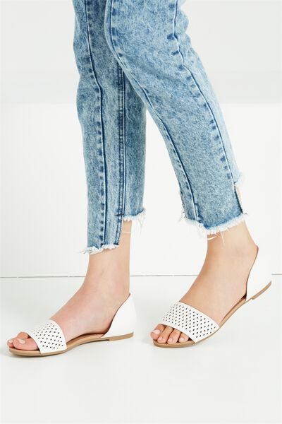 Dixie Peep, WHITE PERFORATED PU