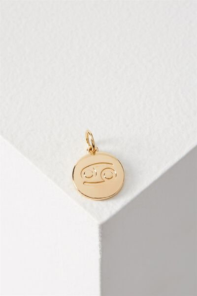 Zodiac Charm, GOLD CANCER
