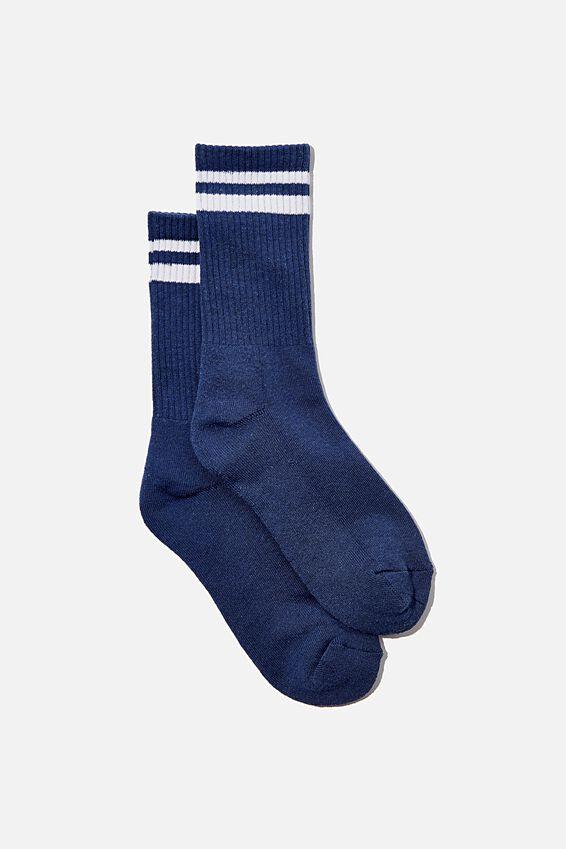 Club House Crew Sock, COASTAL BLUE