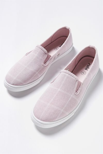 Hazel Slip On Sneaker, LILAC CHECK