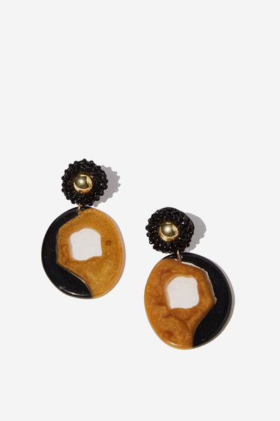 Isley Romance Earrings, BLACK
