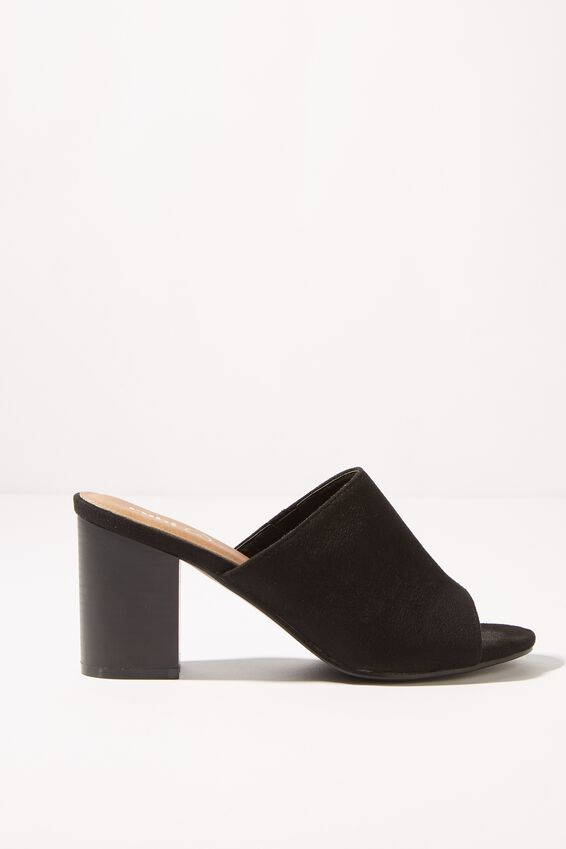 Colette Heeled Mule, BLACK