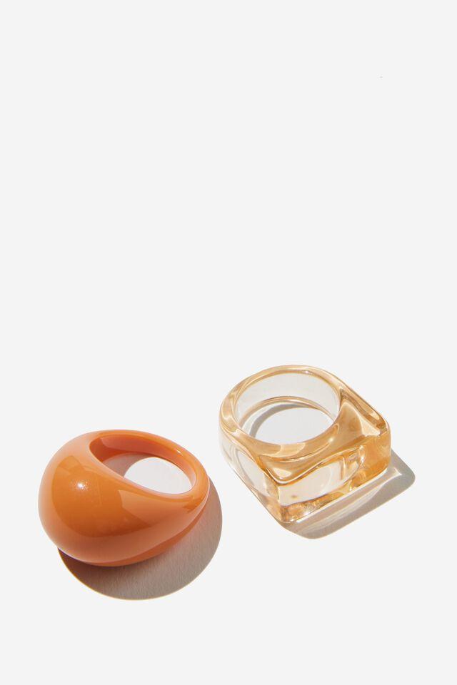 2Pk Bubble Rings, ORANGE SAND