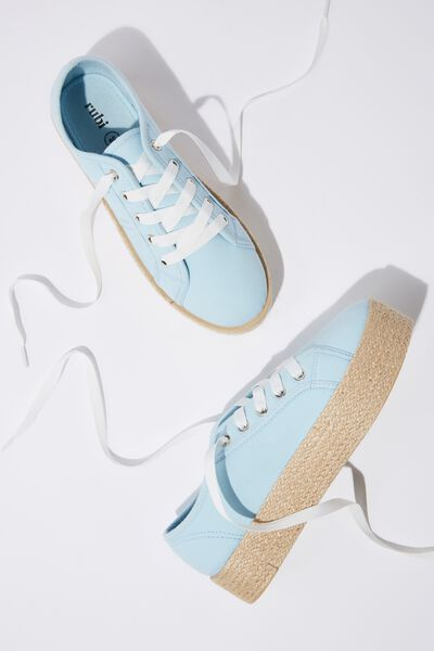 Willow Espadrille Sneaker, AQUAMARINE TWILL