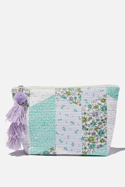 Everyday Pouch, MAISIE PATCHWORK DUSTY MINT